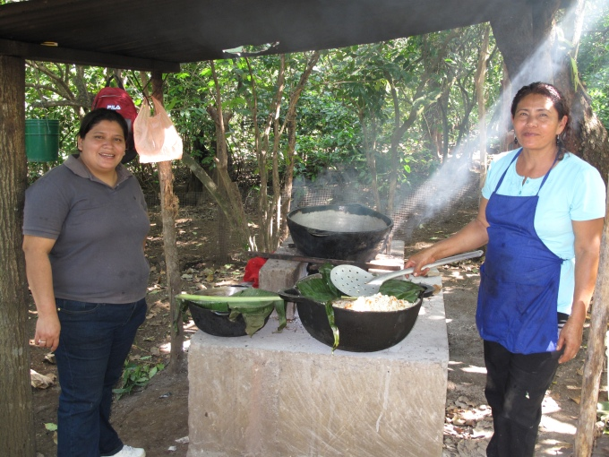 Melba and Chayo cooking up a treat