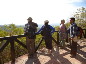 First group overlooking the view towards the Laguna de Masaya
