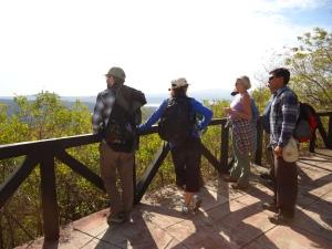 First group overlooking the view towards the Laguna de Masaya